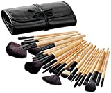 #8: Solimo Makeup Brush Set, 24 Pieces with PU Leather Case