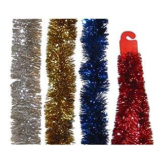 EL CARNAVAL Boa espumillón Metalizada de Color Rojo. Tamaño: 1,80mx12cm