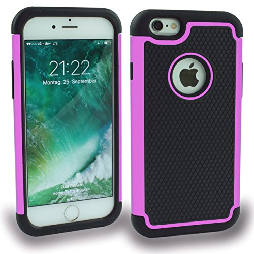 Iphone 6S Outdoor Case Gelb Cover inkl. Panzerglas 9H Hülle Schale Schutzhülle Bumper Yellow Rosa