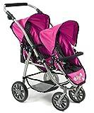 Bayer Chic 2000 689 12 Zwillings-Puppenwagen, blau, pink