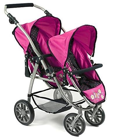 Bayer Chic 2000 689 12 - Tandem-Buggy Vario, Dots, blau/pink