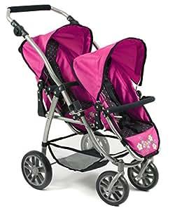 Bayer Chic 200068912–Passeggino giocattolo tandemVario, a pois, blu/rosa