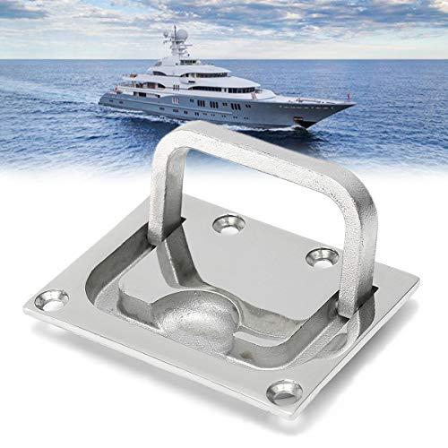 HELEISH 316 Edelstahl-Ring-Zuggriff-Schließfalle-Zuglift-Yacht-Flush-Fitting-Hebe-Hardware Zubehörwerkzeug
