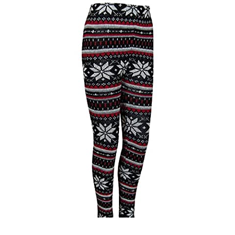 Sexy Neon Norwegian Knit Women's Leggings Thermal Winter Winter Leggings