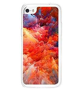 Multicolour Cloudy Pattern 2D Hard Polycarbonate Designer Back Case Cover for Apple iPhone 5C