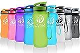 Die besten Eco Friendly Trinkflaschen - ZORRI Sport Trinkflasche Wide Mouth Wasserflasche aus Tritan Bewertungen