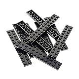 Bausteine gebraucht 10 x Lego System Leiste Basic BAU Platte 2x12 Stein schwarz Set Star Wars 7261 75087 10937 6291 6762 10210 75904 7888 244526 2445