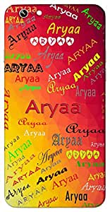 Aryaa (Popular Girl Name) Name & Sign Printed All over customize & Personalized!! Protective back cover for your Smart Phone : Moto G2 ( 2nd Gen )