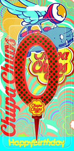 Cereria de Giorgio ch00002_ 60vela Cumpleaños gigante Chupa Chups Número 0con soporte