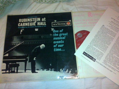 Highlights from Rubinstein at carnegie hall 1961 Living Stereo Red Seal SB6504 comes with INSERT Rca Red Insert