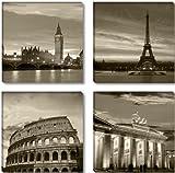 Visario Leinwandbilder 6604 Bild auf Leinwand Städte