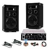 600 Watt PA Kompakt Karaoke Musik Partyanlage Boxen USB SD MP3 Verstärker DJ-581