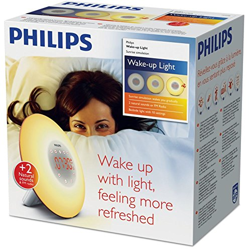 PHILIPS Wake-up Light, Plastik, weiß, 18 x 18 x 11.5 cm (Philips Wake-up Light Von)