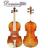 Dominique Musique fabriqué à la main style baroque pour violon 4/4avec étui, cordes Dominant et archet