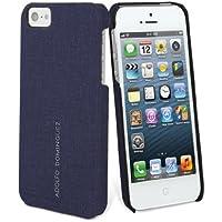Adolfo Dominguez ADCT002 - Carcasa en cuero para móvil Apple iPhone 5, color azul marino