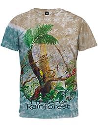 Old Glory Men's Rainforest Tie-Dye T-Shirt Light Blue XX-Large