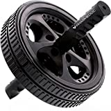 PharMeDoc Ab-Roller - Das Ultimative Rad - Mit Griff aus Gehärtetem Stahl - Fitness Bauchtrainer - Heim-Gym - Für Training und Schnelle Verbrennung von Bauchfett - Von PharMeDoc