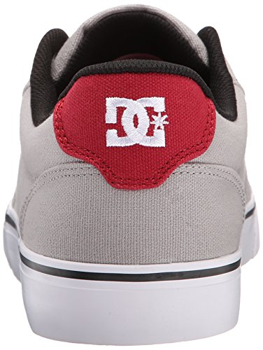 DC Shoes Anvil Tx, Chaussures basses hommes Gris/Rouge/Blanc