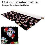 Süßigkeit Totenkopf Design Digitaldruck gestrickt Jersey