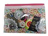 Viaggi/cosmetici zipper borse in vinile (2pezzo) 24,8x 34,3cm arancione e rosa