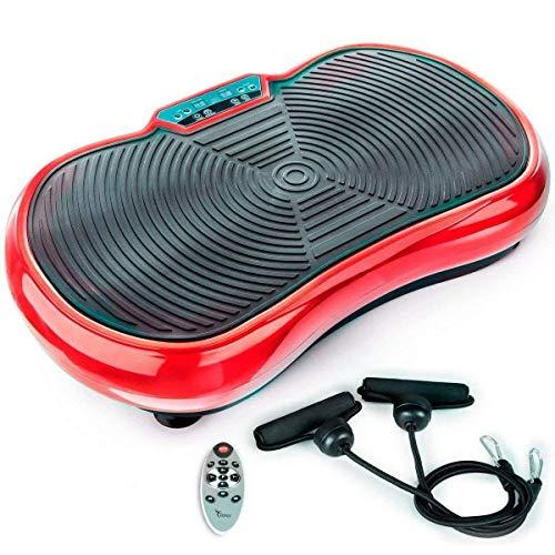 TANGO - Plataforma Vibratoria de Fitness, Control Remoto, Gran Área Antideslizante, Máquina Ideal de Ejercicio para Adelgazar, Tonificar y Relajar Músculos. (Rojo)