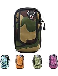 Bazaar Emballage extérieur de sport de jogging sac de bras de téléphone bras de téléphone mobile impression pochette de camouflage