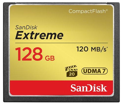 SanDisk Extreme CompactFlash 128GB Memory Card