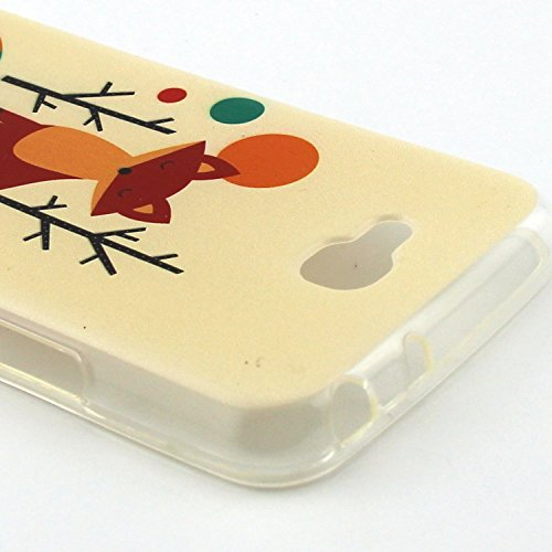 iPhone 5C TPU Case, iPhone 5C Silikon Cover - Felfy Ultra Slim Flexible Soft Weich Classy interessant Wort Muster Schutzhülle für Apple iPhone 5C Back Rubber Hülle Bumper Zurück Tasche Protective + 1x Tier Fuchs