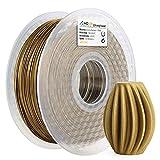 AMOLEN Imprimante 3D Filament PLA 1.75mm, Bronze Givré 1KG,+/- 0.03 mm Matériaux d'impression 3D en filament, comprend échantillon Marbre Filament.