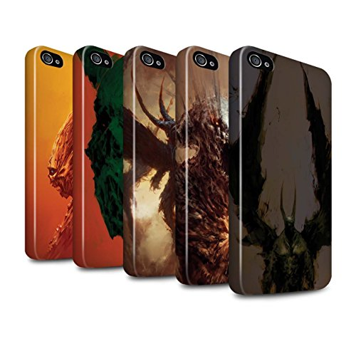 Offiziell Chris Cold Hülle / Glanz Harten Stoßfest Case für Apple iPhone 4/4S / Teufel/Tier Muster / Wilden Kreaturen Kollektion Pack 6pcs