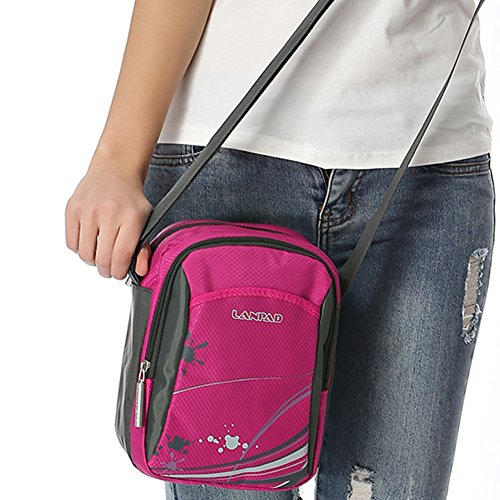 c1ca9ccb870ce Outdoor peak Damen hochwertige Canvas Sporttasche Rucksack Tagetasche  Umhängetasche Freizeitrucksack Schulrucksack Collegetasche Daypacks  Reisetasche Rot