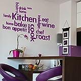 laographics® GIANT Moderne Küche Zitat Worte Sprüche Home, Vinyl Art Verzierungen, Innen Aufkleber Grafiken, abnehmba