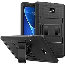 MoKo Samsung Galaxy Tab A 10.1 Funda - Shockproof Híbrido Resistente Smart Cover Case Para Choque con Protector de la Pantalla Incorporado para Galaxy Tab A 10.1(SM-T580/T585, sin Lápiz), Negro