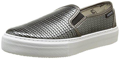 Victoria  Slip On Tej Trenza Metalizado,  Sneaker donna Grigio Gris (Plomo) 39