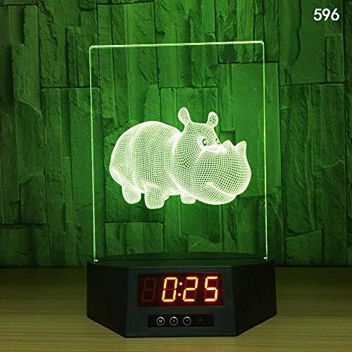 3D Illusion Lampe Nachtlicht optische Lampe Schreibtischlampe Kreative Smart-Home-Touch-Sensor-Nachtlicht-USB-Tischlampe der Induktion 3D, 596, bunt, Fernbedienung, Note - Sensor Der Smart Basketball