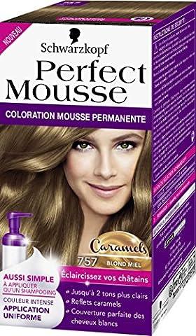 Schwarzkopf Perfect Mousse Coloration Permanente 757 Caramels Blond Miel 35 ml