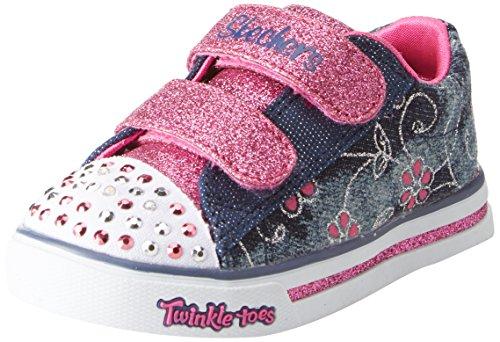 tz - Denim Daisy, Baby Mädchen Sneaker, Mehrfarbig (Denim/hot Pink), 22.5 EU (6 UK) ()