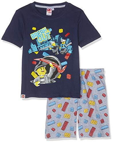 LEGO Jungen 5539 Zweiteiliger Schlafanzug, Marine blau, 128 - Marine-blau-jungen-schlafanzug