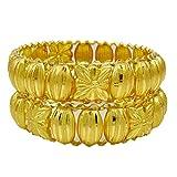Banithani 18K vergoldet indischen Kada Armreif Set traditionelle Armbänder Schmuck-Geschenk für ihr 2 * 6