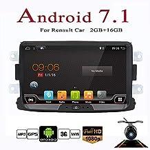 Android 7.1 8 pulgadas Quad Core Double Din Navegación GPS estéreo para Renault Duster 2010 Soporte RDS Radio USB 4G DAB TPMS WIFI Bluetooth Enlace de ...