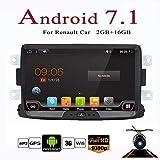 20,3cm Android 7.1 Quad Core Double Din Voiture stéréo Navigation GPS pour Renault Duster 2010 Soutien Commande au volant/WIFI/RDS/WiFi/ Bluetooth/Lien miroir (sans lecteur de DVD) Avec CANBUS&Camera