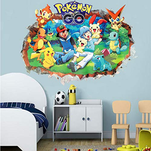 Pokemon Go Through Wall Stickers For Kids Room Child