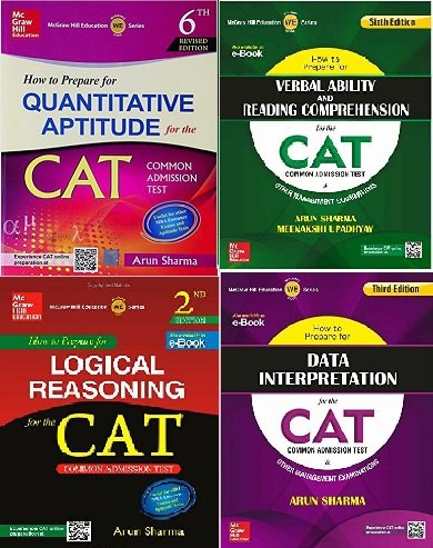 How To Prepare For The Cat Common Admission Test Set Of 4 Books By Arun Sharma And Meenakshi Upadhyay