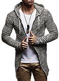 LEIF NELSON Herren Sweatjacke Kapuzenpullover Hoodie Pullover Jacke Sweatjacke Sweatshirt Longsleeve T-Shirt Langarm LN8123; Größe M, Schwarz