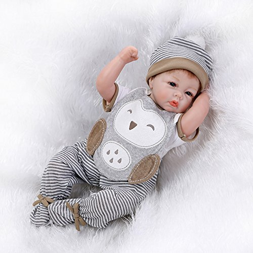 Nicery Reborn Baby Doll Soft Silicone Vinyl 22inch 55cm Magnetic Mouth Lifelike...