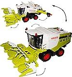 Unbekannt XXL großer Maishäcksler / Mähdrescher - 43 cm ! groß VOLL beweglich - mit abnehmbarem Mais Mähwerk - Spielzeug Modelle - Farm Set Traktor - Feldhäcksler - ERN..