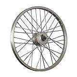 Taylor-Wheels 20 Zoll Vorderrad Alufelge/Shimano Nabendynamo DH-C3000-3N - Silber
