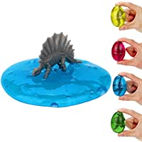 Dinosaur Eggs Putty, Swallowzy 4 Pack Egg Slime Crystal Clay Toy Scented Stress Relief Toy Sludge Toy for Kids