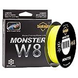 SeaKnight Monster W8 Fil de Peche Tresses 8 brins 300M/500M Super Lignes de pêche Carpe multifilament de Tresse PE Fil de Peche mer 15-100LB