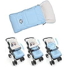 Saco de Dormir de Cochecito, Sacos de Abrigo de Carritos y Sillas de Paseo de Bebé Infantil Niños Esencial para Viaje (azul)